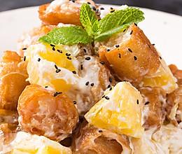美食台的油条跟虾绝妙组合,广东人真会吃!