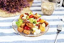 减肥党福音:苹果香梨橘脆吐司沙拉,好吃简单不胖#秋天怎么吃#的做法