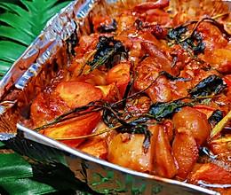 锡纸懒人菜【烤香椿腐乳鸡【❤️】蜜桃爱营养师私厨的做法