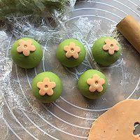 菠菜小花馒头#柏翠辅食节-辅食添加#的做法图解11