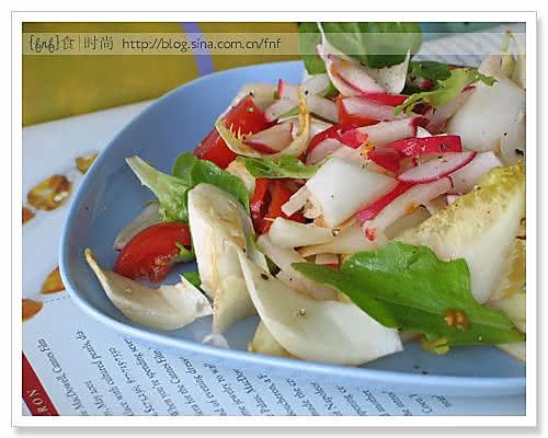 超低热量的玉兰菜水萝卜沙拉的做法