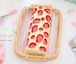 粉红豹纹蛋糕卷的做法