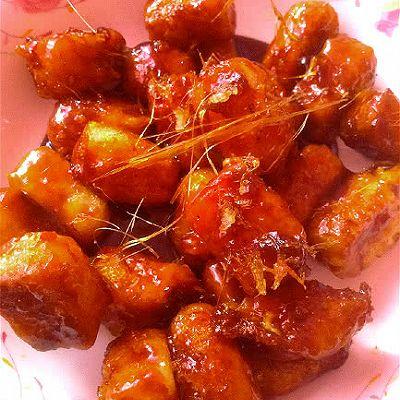 拔丝奶豆腐