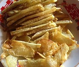 炸薯片 薯条的做法