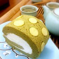抹茶波点蛋糕卷
