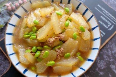 肉末毛豆炒冬瓜