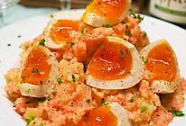 ️海胆鸡蛋沙拉佐土豆泥的做法