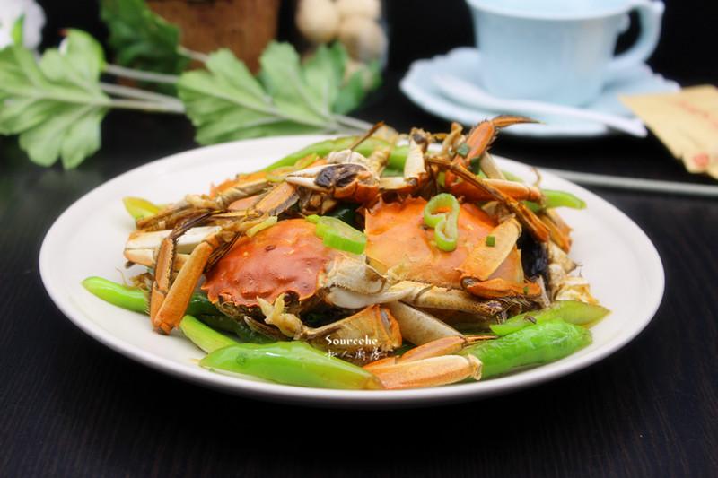 尖椒炒蟹的做法_【图解】尖椒炒蟹怎么做如何做好吃