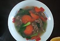 滑肉时蔬汤的做法