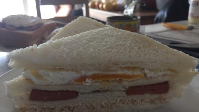 火腿鸡蛋金枪鱼三明治