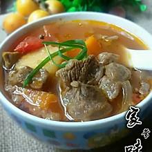 番茄胡萝卜土豆煲牛腩