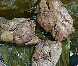 粽叶包肉的做法