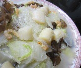 干贝白菜炖粉丝的做法