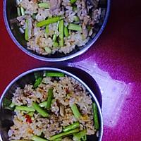 蒜苔肉丝炒饭的做法图解5