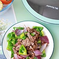 青椒炒牛肉这样做,不老不柴肉嫩滑爽口好吃的做法图解11