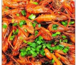 葱爆河虾的做法