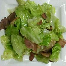 培根炒圆白菜