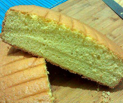 香草全蛋海绵蛋糕胚