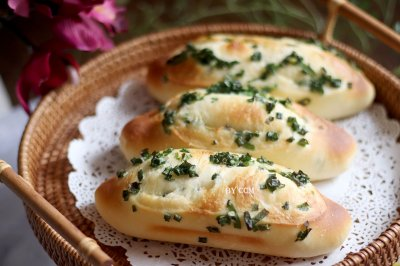 小葱软面包,又香又软,百吃不腻