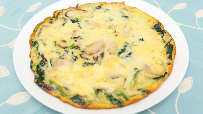 菠菜蘑菇奶酪蛋饼-迷迭香