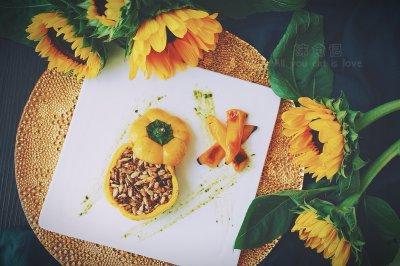 《向日葵》—黄椒瓜子仁大藏芥末酱牛排