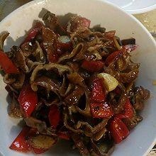 红椒炒腊肠