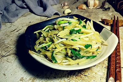 土豆丝韭菜炒豆芽