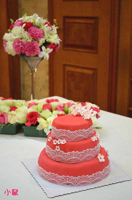 翻糖婚礼蛋糕的做法
