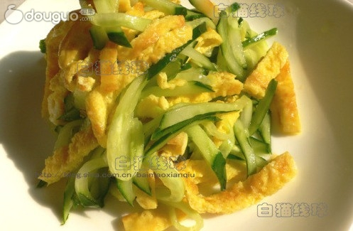 蛋丝黄瓜的做法_【图解】蛋丝黄瓜怎么做如何做好吃