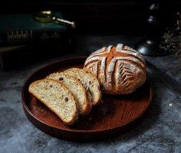 蔓越梅花生黑麦软欧包的做法