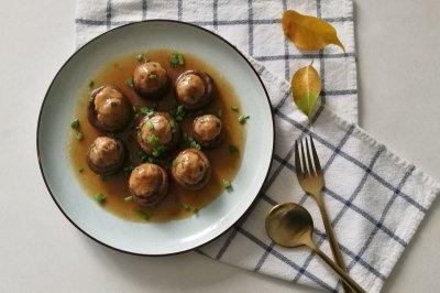 香菇酿肉-秋冬的降燥蒸菜