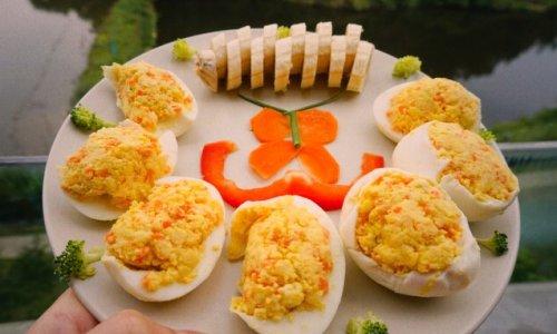俄罗斯鸡蛋酿(水煮蛋可以这么吃!)的做法