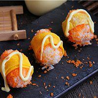 #丘比沙拉酱#胡萝卜清甜寿司的做法图解4