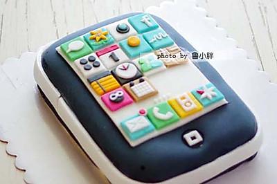Iphone翻糖蛋糕
