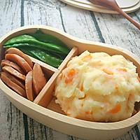 日式土豆泥+荷兰豆香肠便当,今天不想吃米饭!的做法图解9