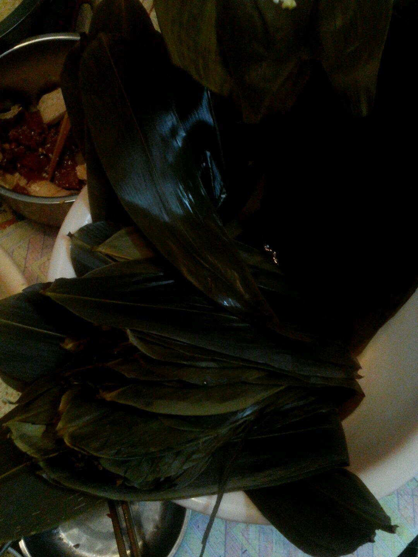 包粽子,长方形的哦.的做法