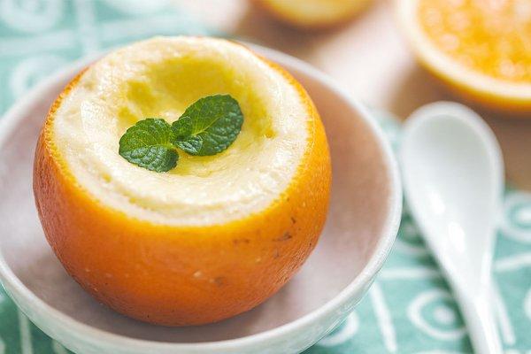 甜橙蒸蛋羹的做法