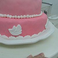 HOLLETKITY粉色双层翻糖蛋糕#九阳烘焙剧场#的做法图解46