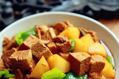 红烧冻豆腐