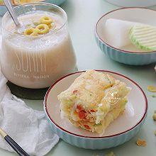 【萝卜酸奶煎饼】好吃又好做的营养早餐