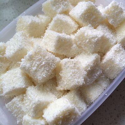 牛奶椰丝小方(超简单,不需要淡奶油)