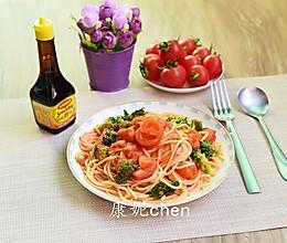樱桃番茄意大利面(意大利面好吃的秘诀)#美极鲜味汁#的做法