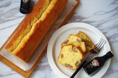百利甜酒核桃磅蛋糕#美的烤箱菜谱#
