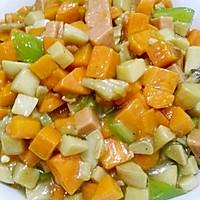 家常小炒素三样~胡萝卜、杏鲍菇、青椒的做法图解10