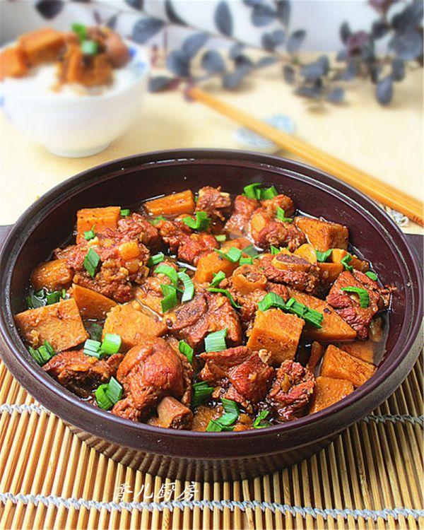 豆豉香芋排骨煲的做法