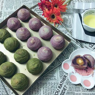抹茶酥&紫薯酥
