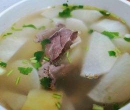 天际隔水炖之白萝卜牛杂汤的做法
