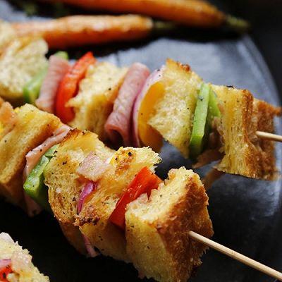 【原麦早餐】火腿奶酪:面包BBQ+烤杂蔬