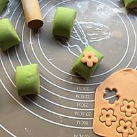 菠菜小花馒头#柏翠辅食节-辅食添加#的做法图解15