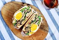 减肥女孩轻食记:豆腐皮苋菜鸭爆炸三明治#秋天怎么吃#的做法